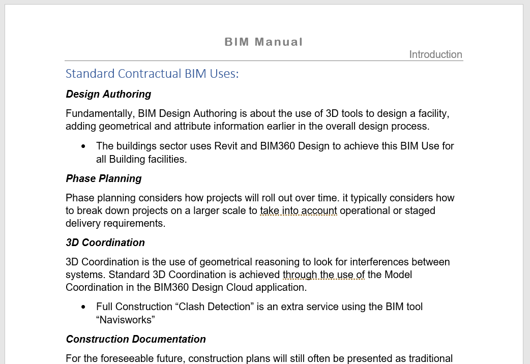 BM_BIM Use Standard